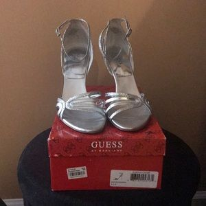 Silver Guess Sandals